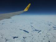 über dem arktischen Eismeer