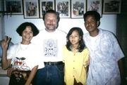 Herbergsfamilie in Siem Reap