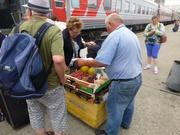 Handel am Bahnsteig