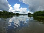 auf dem Birjusa-Fluss