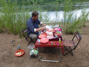 Picknick am Ufer