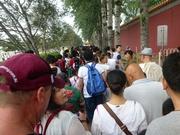 Menschenschlange vor dem Platz des Himmlischen Friedens