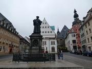 Markt mit Lutherdenkmal und Rathaus