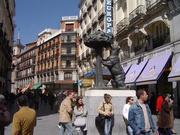Bronzebär an der Puerta del Sol