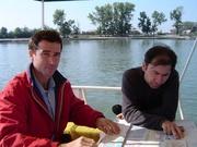 Benoit und Antoine auf dem Donaudelta