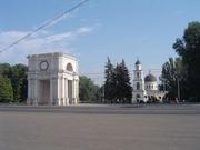 Triumphbogen und Kathedrale in Chisinau