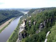 auf dem Heimweg: Elbsandsteingebirge