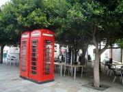 die Telefonzelle könnte in Manchester stehen