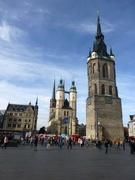 Marktplatz mit Rotem Turm und Marktkirche