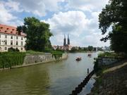 Blick auf die Oder mit Dom und Dominsel