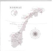 Route, entnommen aus HURTIGRUTEN: Die schönste Seereise der Welt SEEREISE HANDBUCH