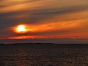 und noch ein Sonnenuntergang auf See