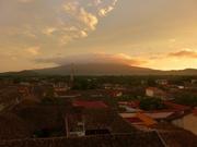 Vulkan im Abendlicht