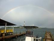 Regenbogen über die Karibik