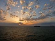 vor Anker im Mittelmeer - warten auf die Abfertigung in Port Said